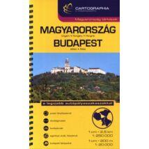 """""""MAGYARORSZÁG+BUDAPEST ATLASZ SC 1:250 000;1:20 000"""""""