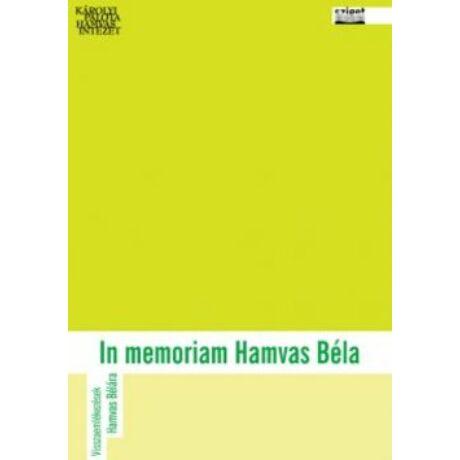 IN MEMORIAM HAMVAS BÉLA
